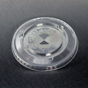 PET F98 Flat Lid For Bubble Tea Clear Cup