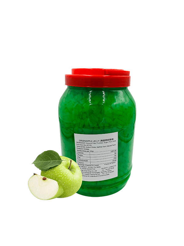 Bubble Tea Green Apple Jelly Toppings
