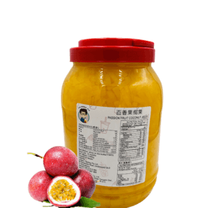3.85 kg container of Bubble Tea Passionfruit Coconut Jelly Toppings