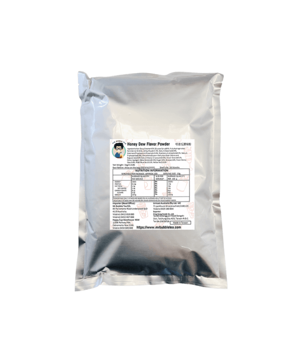 1kg Bag of Honeydew Melon Powder - Bubble Tea Powder Ingredients