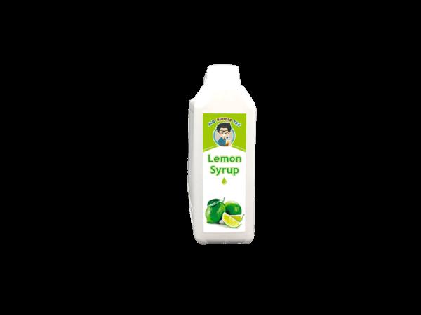 a white bottle of Bubble Tea Warehouse Lemon Syrup