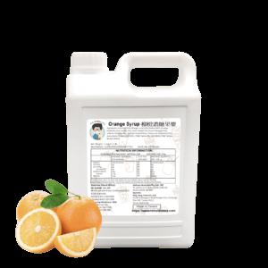 2.5 kg Bottle of Bubble Tea Orange Syrup