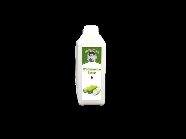 a white bottle of Wintermelon Syrup for Bubble Tea Australia