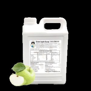 2.5 kg bottle of Bubble Tea Green Apple Syrup Ingredient