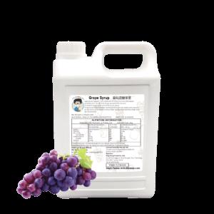 2.5 kg bottle of Bubble Tea Grape Syrup by Bubble Tea Warehouse