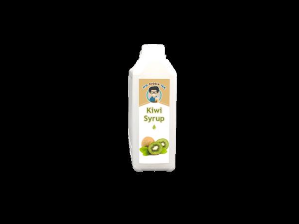 a white bottle of Bubble Tea Kiwi Syrup from Bubble Tea Warehouse