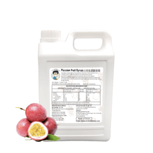 3.2 kg Bottle of Bubble Tea Passion Fruit Syrup Ingredient