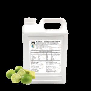 3.2 kg Bottle of Kumquat Lemon Syrup Ingredient Australia