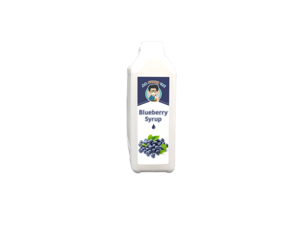 a white bottle of Bubble Tea Blueberry Syrup Ingredient