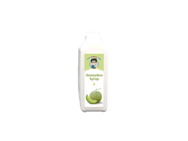 a white bottle of Honeydew Syrup Ingredient for Bubble Tea