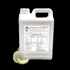 2.5 kg bottle of Honeydew Syrup Bubble Tea Ingredient Australia