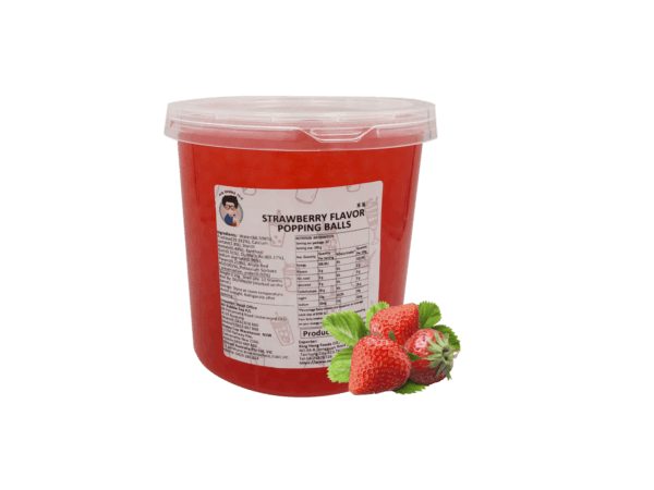 Strawberry Flavor Popping Balls - Bubble Tea Toppings Supplier