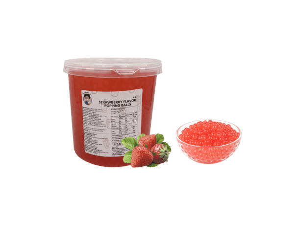 Strawberry Popping Ball - Bubble Tea Warehouse Ingredients