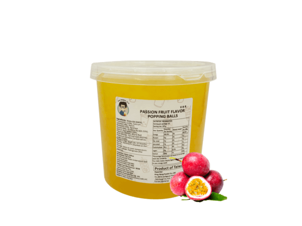 3.2 kg Passionfruit Flavored Popping Balls Toppings for Bubble Tea
