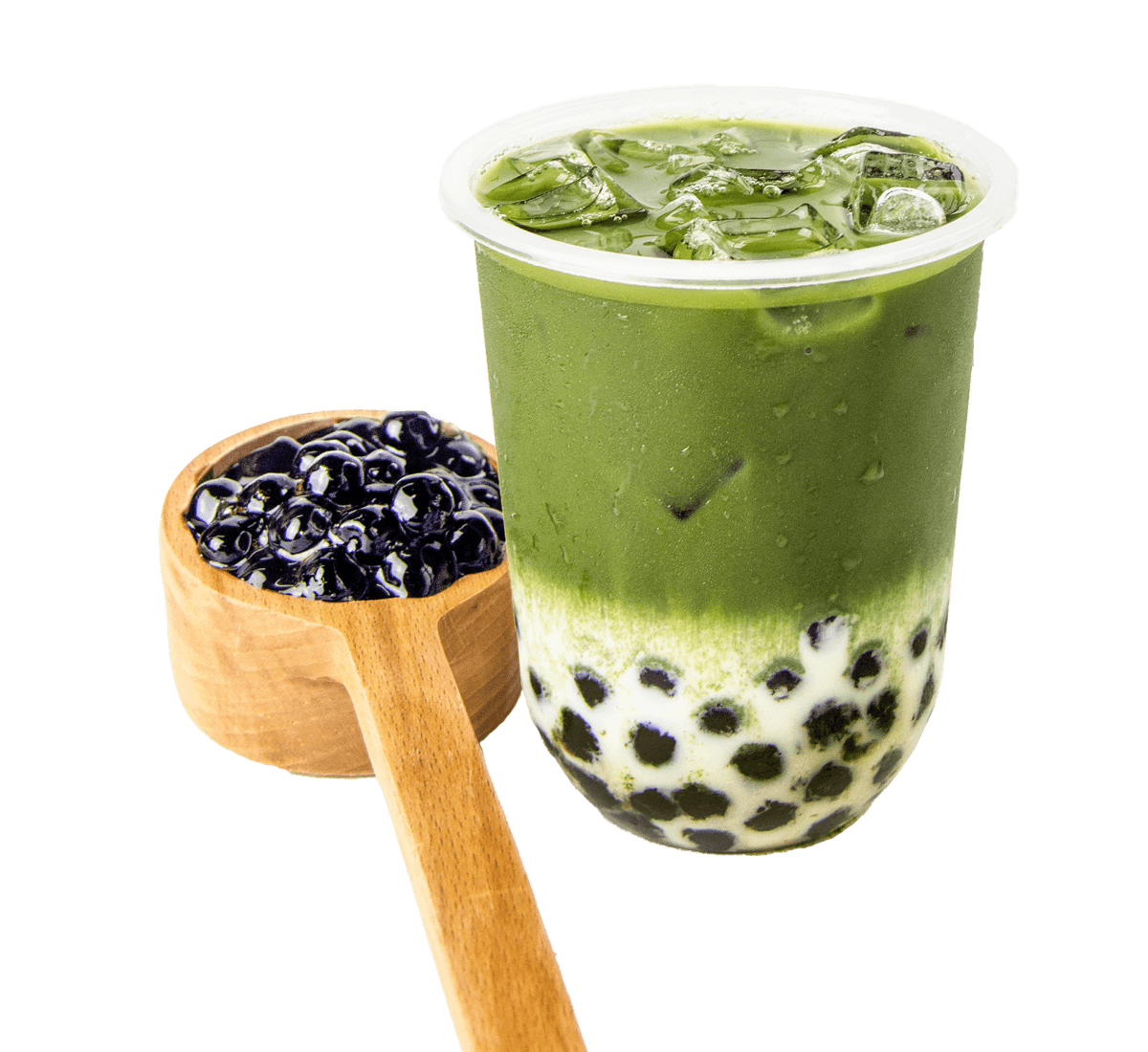 Bubble Tea Warehouse Matcha Flavored Bubble Tea with Tapioca Flavors